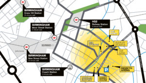 Digbeth is just a quick walk from Birmingham's City Centre. Upcoming improvements to transport links including the Metro and HS2 will ensure Digbeth remains readily accessible from wherever you're coming from.